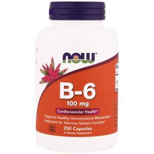 Now Foods - Vitamin B-6 100mg 100caps