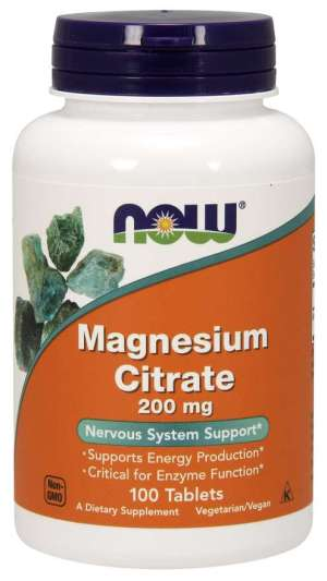 Now Foods - Magnesium Citrate 200mg 100tabs