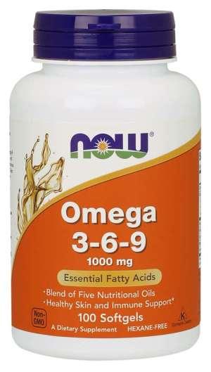 Now Foods - Omega 3-6-9 1000mg 100Softgels