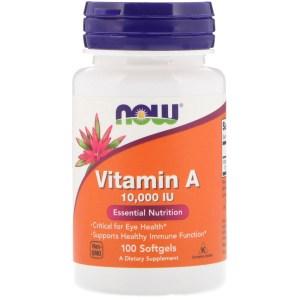 Now - Vitamin A 1000IU 100Softgels