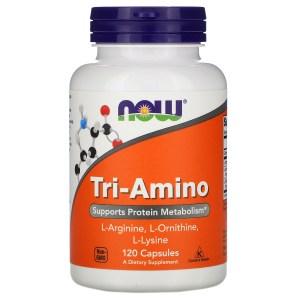 Now Foods - Tri-Amino 120 Cápsulas. ( Aminoácidos)