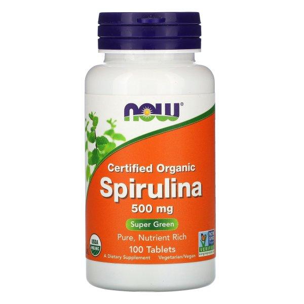 NOW Foods - Espirulina 500mg 100 Tabletas