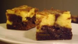 Brownie de tarta de queso