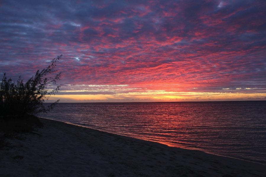 On finit avec le plus beau coucher de soleil de notre vie (enfin pour le moment)!