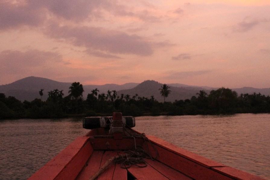 La balade en bateau sur le fleuve!