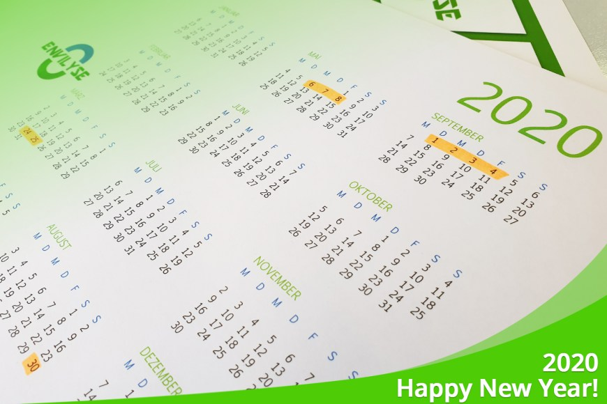 January 2020 – Happy New Year / First dates are fixed