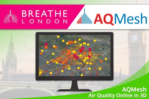 "Oktober 2020 – AQMesh-Projekt ""Breathe London"" in 3D"