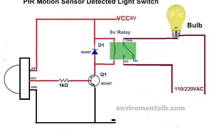 pir motion sensor occupancy switch wiring diagram  1977