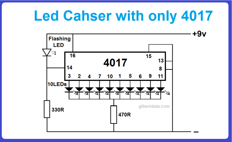 led Chaser using only 4017