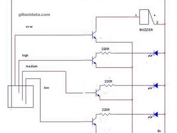 water level indicator using transistor