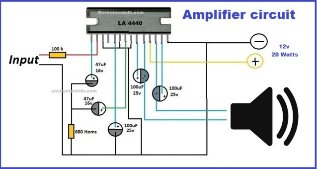 ic 4440 amplifier circuit