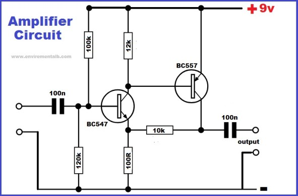 Two transistor amplifier