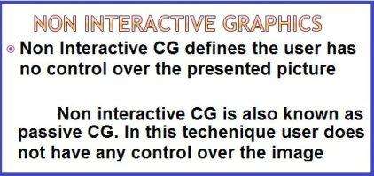 Non Interactive Computer Graphic