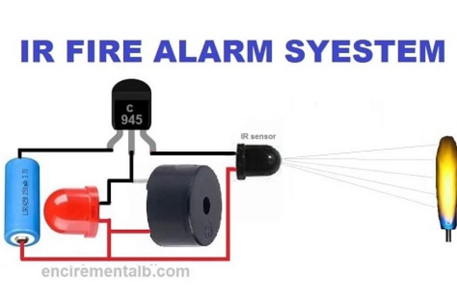 Fira Alarm circuit using IR sensor