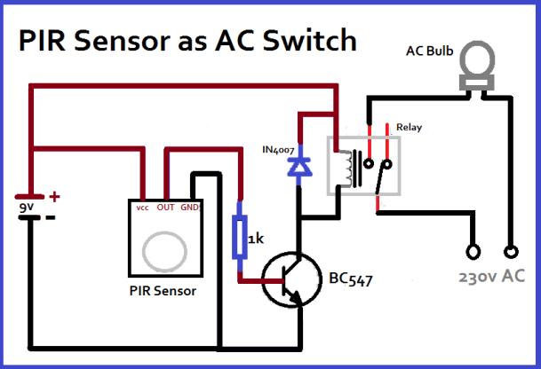 PIR Sensor as switch