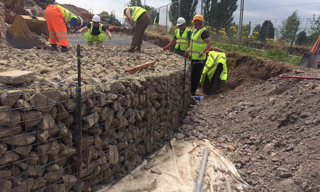 Beacon Barracks Welded Mass Gravity Gabion Retaining Wall Portfolio