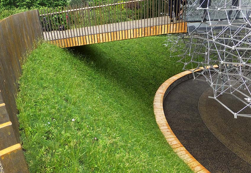 The Hive Installation Welded Gabion Landscaping Benches Enviroslope