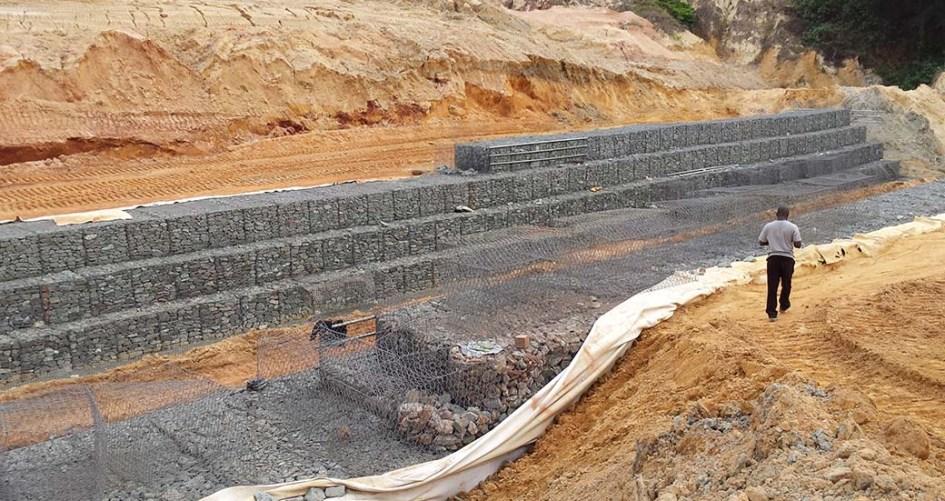 Nanka Landslide Erosion Gully Woven Gabion Erosion Control Portfolio