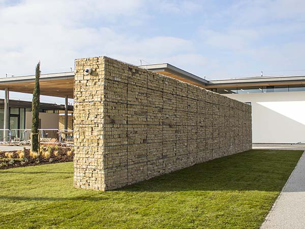 Trent Valley Crematorium Post-Supported Gabion Wall