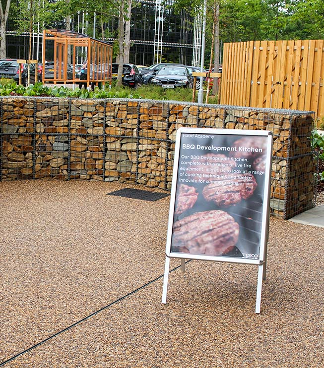 Tesco Project Heart Welded BBQ Area Gabion Landscaping