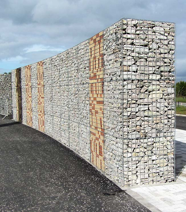 Helix Park Welded Gabion Landscaping Feature Wall