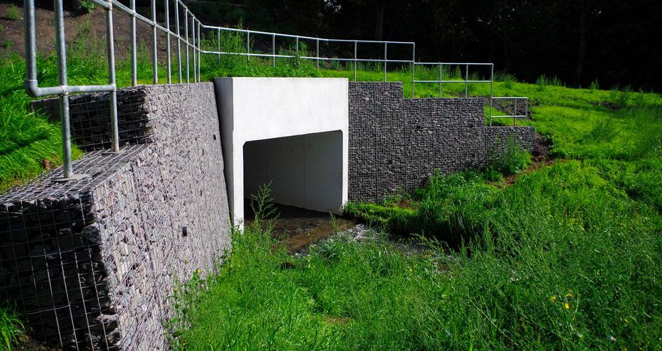 Mousesweet Brook Welded Gabion Mass Gravity Retaining Wing Walls Portfolio