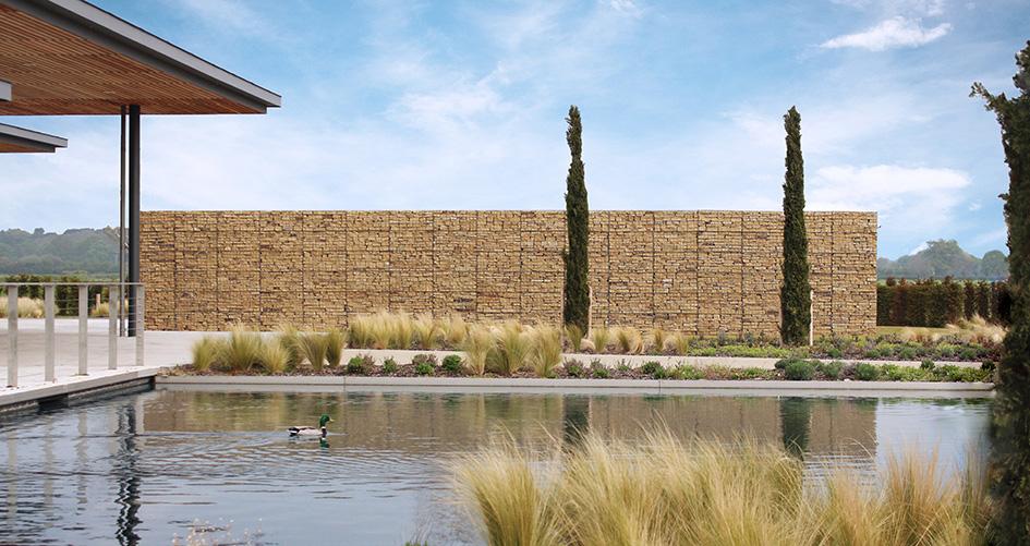 Trent Valley Crematorium Gabion Post Supported Walls