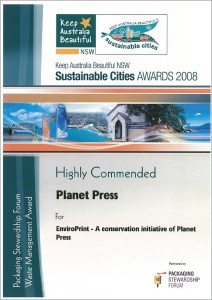 Sustainable Cities Highly Commended Award