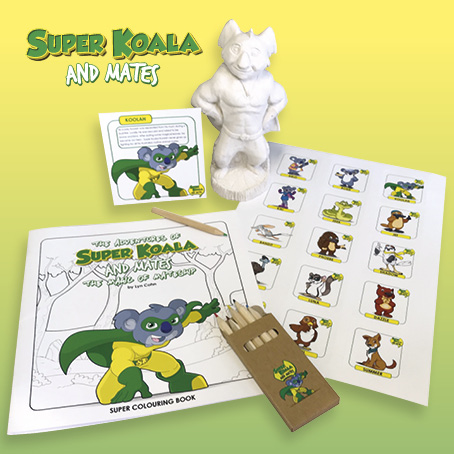 Super Koala and Mates Easter Bilby Colouring Competition Prize Pack 2021