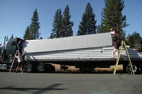 TriD panels arrive on site