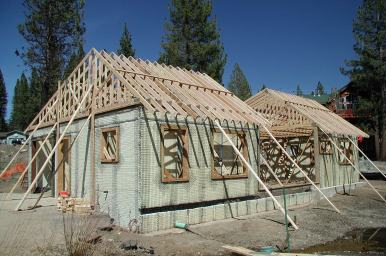 Roof trusses set