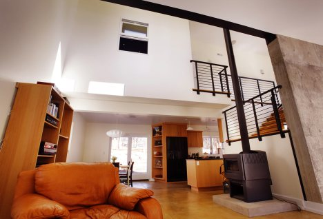 View to Kitchen, Stairs and Upper Atrium