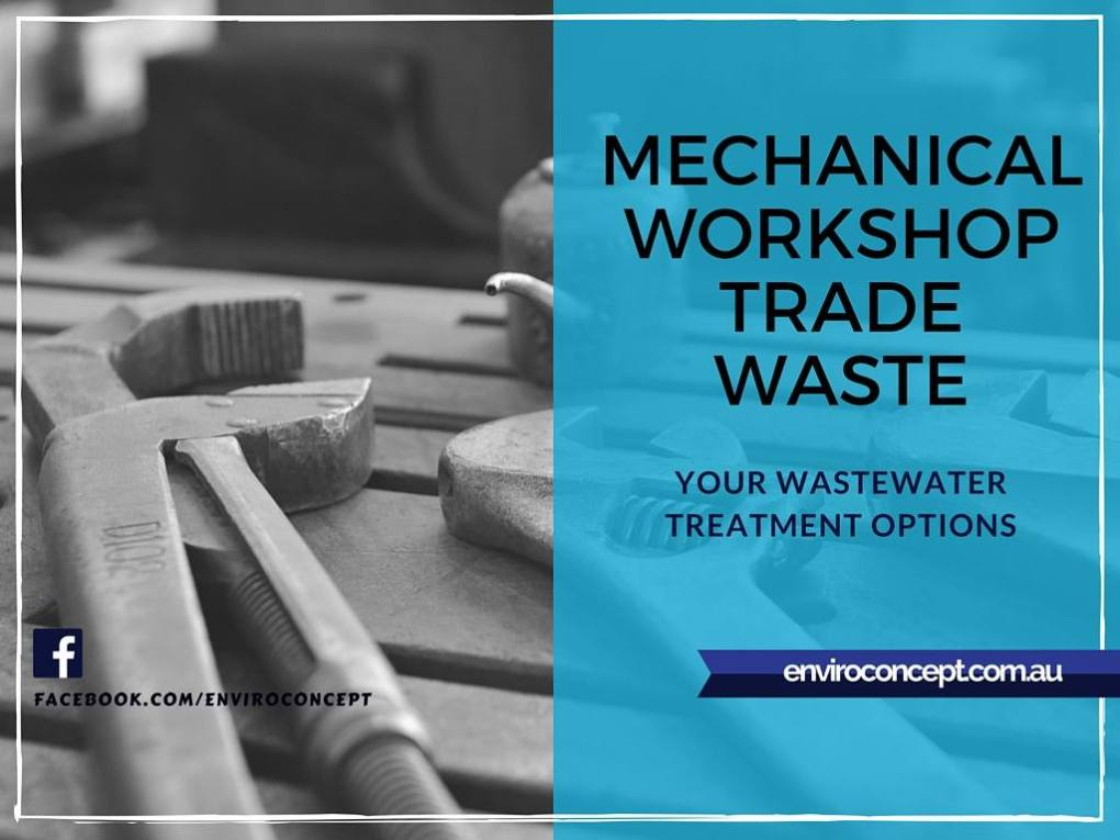 trade waste, repair shop wastewater