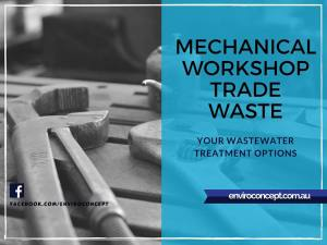 trade waste, repair shop wastewater