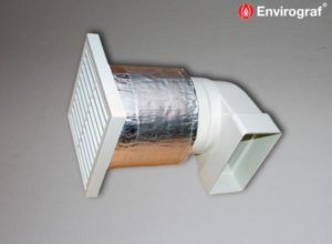 ventilation outlet protection intumescent sleeve