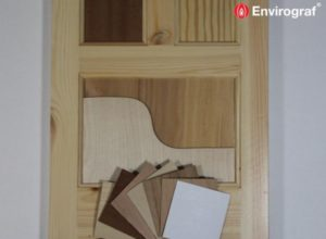 intumescent flat panelled door