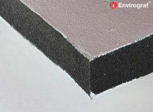 Intumescent coated slab