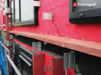Fireproof rainscreen cavity barrier