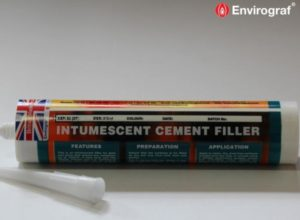 Intumescent cement filler