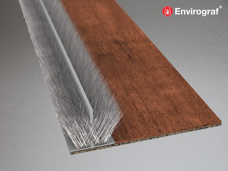 Single Door Set Surface Mounted Intumescent Fire /& Smoke Door Strip Seals
