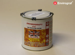 Fire protection coating for glass and pvc
