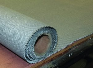 Insulated fire curtain