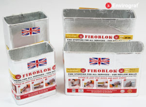 Firoblok for ventilation ducting