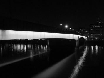 Thames under London Bridge, England
