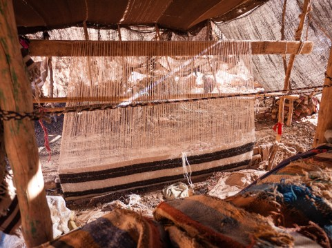 Berber loom, Todra Gorge, Morocco