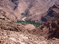 Towns are clustered in the valleys near Todra Gorge, Morocco