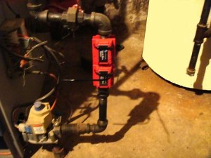 Home Natural Gas – Propane Magnetic Fuel Saver installed