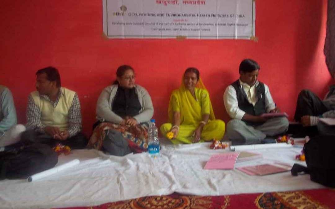 Silicosis Victims Meeting, Khajuraho, MP, February 2013