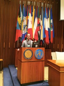 Matteo Convertino presents at the White House Office of Science