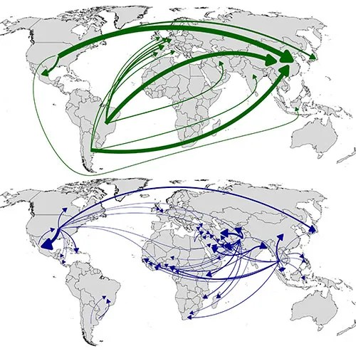 Graham MacDonald's map of the global food trade
